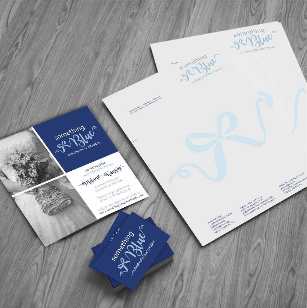 Logodesign und Branding für Something Blue Hochzeitsplanung
