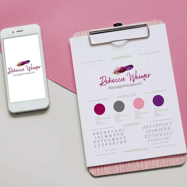 Logodesign Corporate Design Branding Massagepraxis Massagetherapeutin