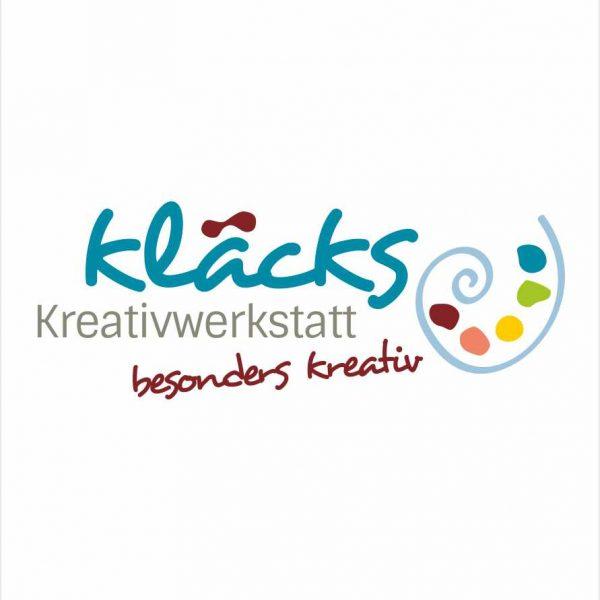 Entwicklung eines Logodesigns für Kläcks - besonders kreativ