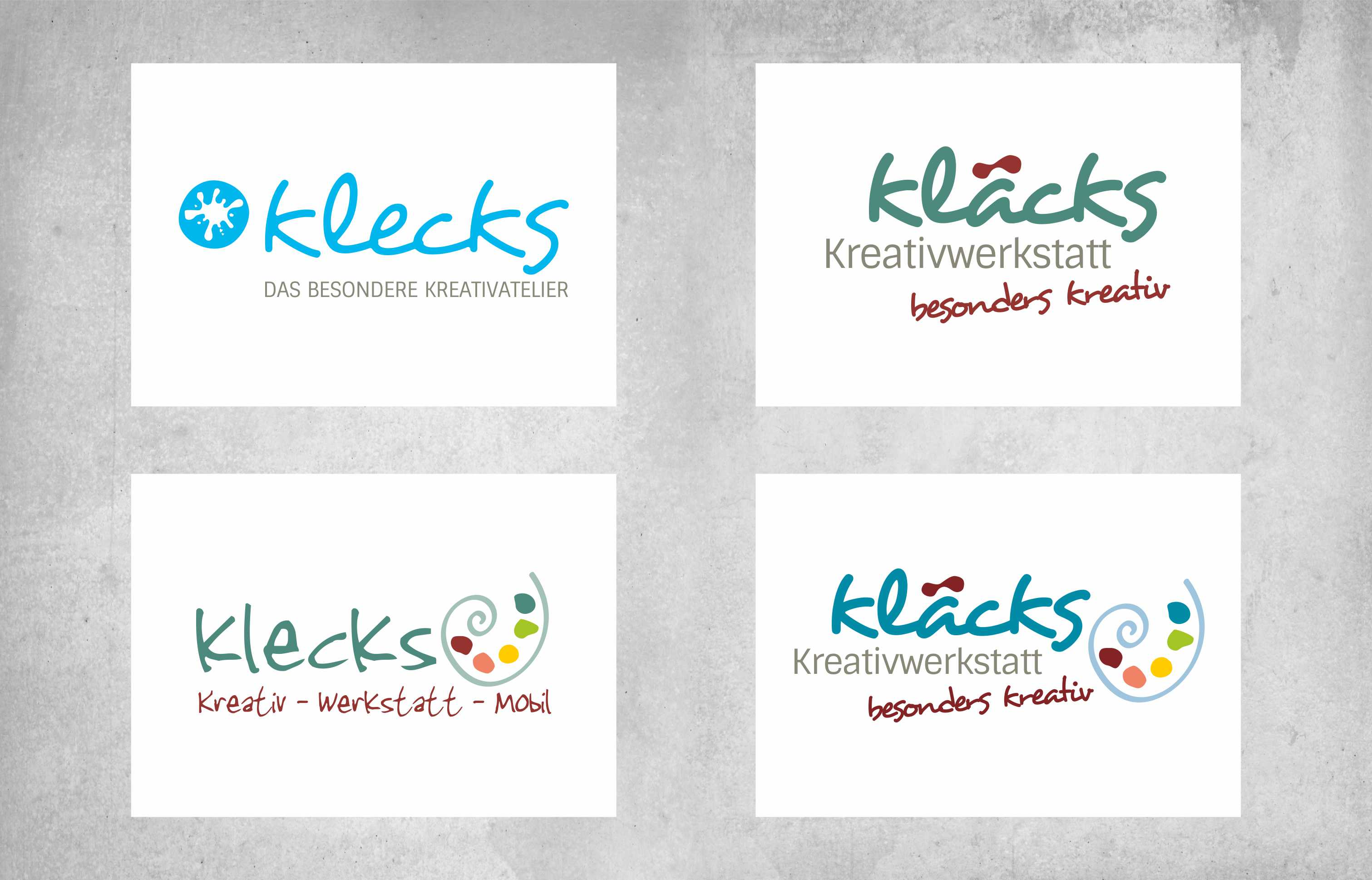 Logodesign kläcks Entwürfe all2design Laura Friedrich