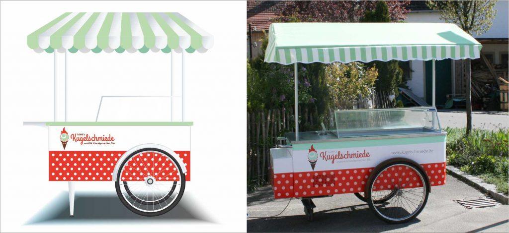 Portfolio Branding Design Kugelschmiede Carettino Beschriftung