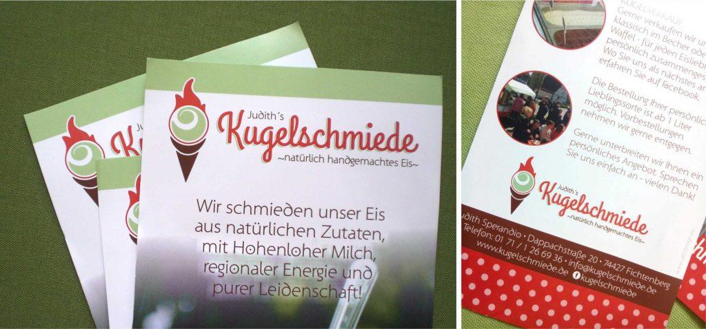 Portfolio Branding Design Kugelschmiede Flyer