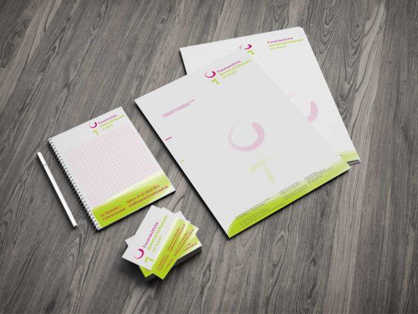 Portfolio Frauenarzt Logodesign Briefbogen all2design Laura Friedrich