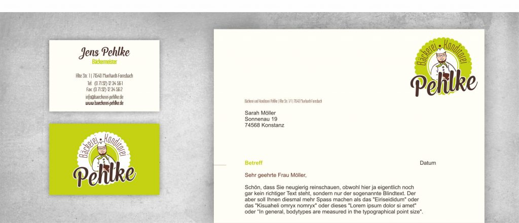 Portfolio Pehlke Logodesign Corporate Design Briefbogen Visitenkarte Entwurf all2design Laura Friedrich