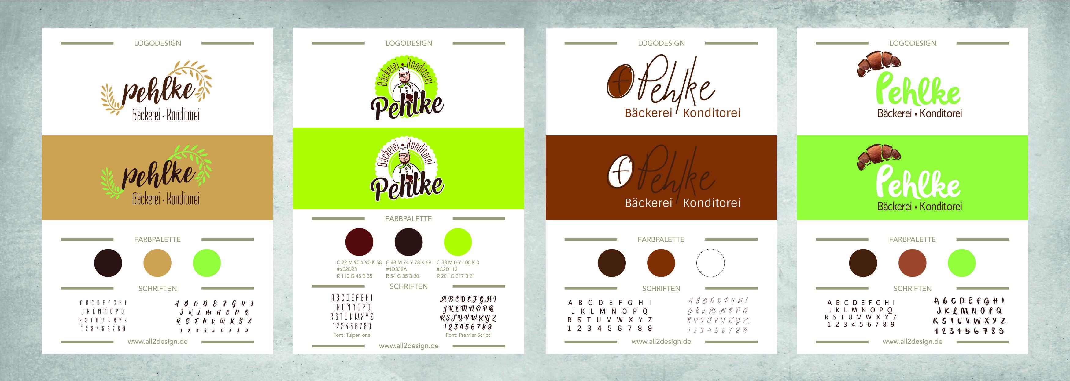 Portfolio Pehlke Logodesign Corporate Design Logoentwürfe all2design Laura Friedrich