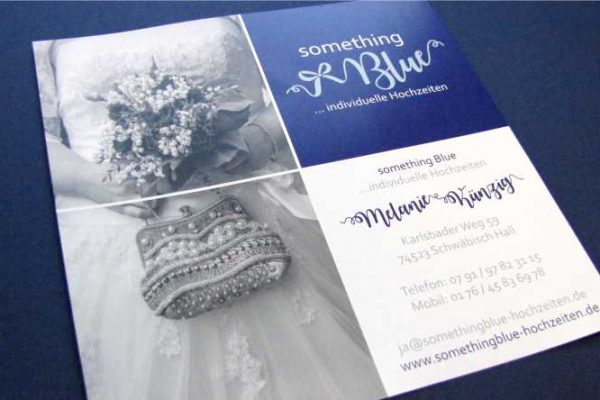 something Blue Hochzeitsplanung Flyer VS all2design Laura Friedrich