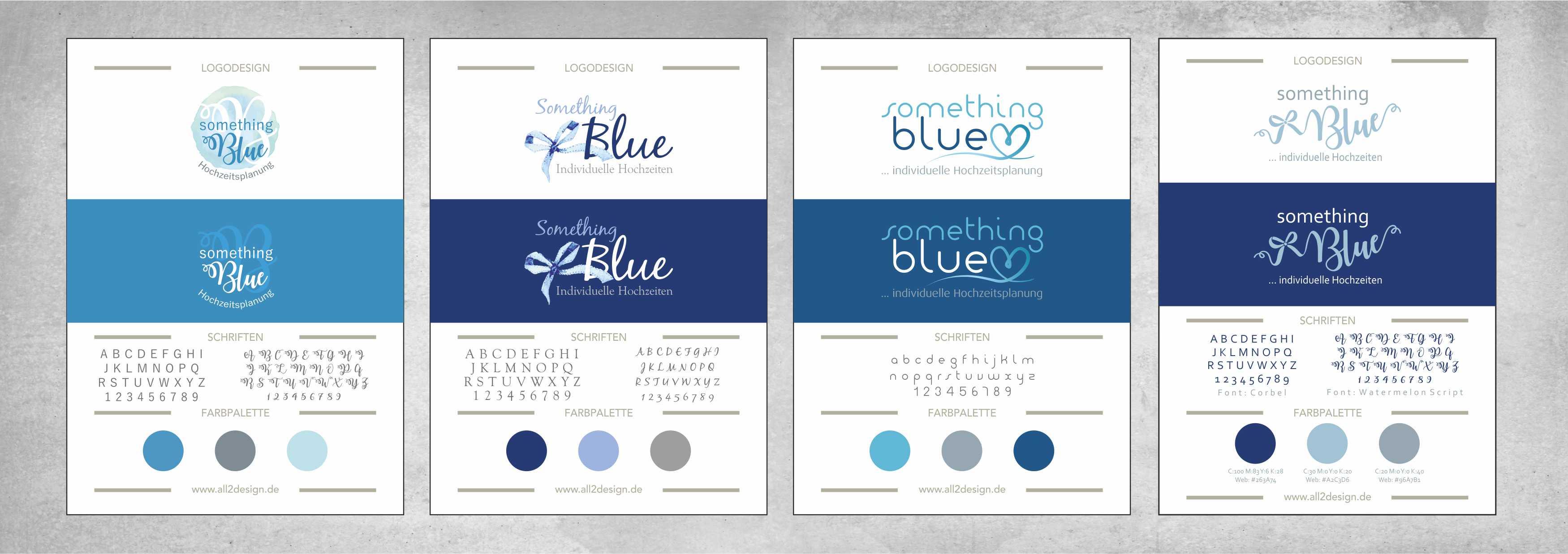 something Blue Hochzeitsplanung Logodesign all2design Laura Friedrich