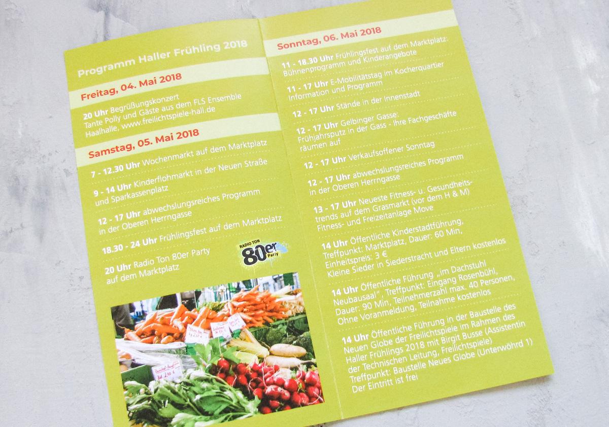 Stadtmarketing Flyer Prospekt Veranstaltung