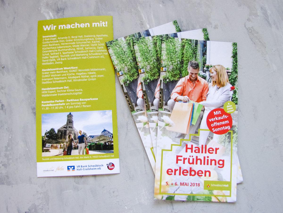 Stadtmarketing Flyer Veranstaltung