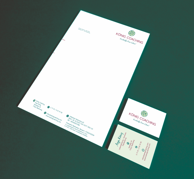 Logodesign Branding König Coaching Grafikdesign Laura