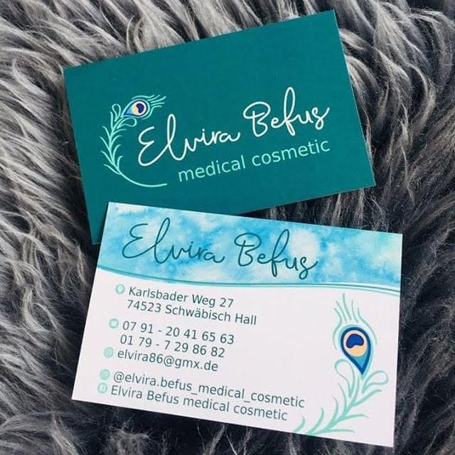 Visitenkarte mit Kosmetik Logo