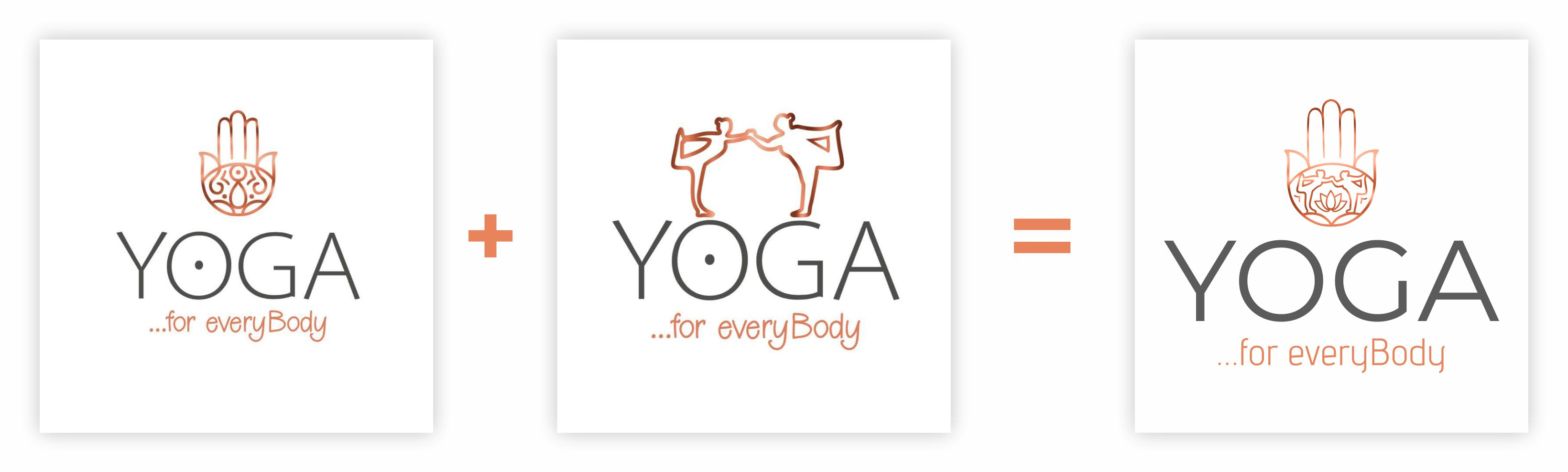 Yoga Logodesign Entwicklung