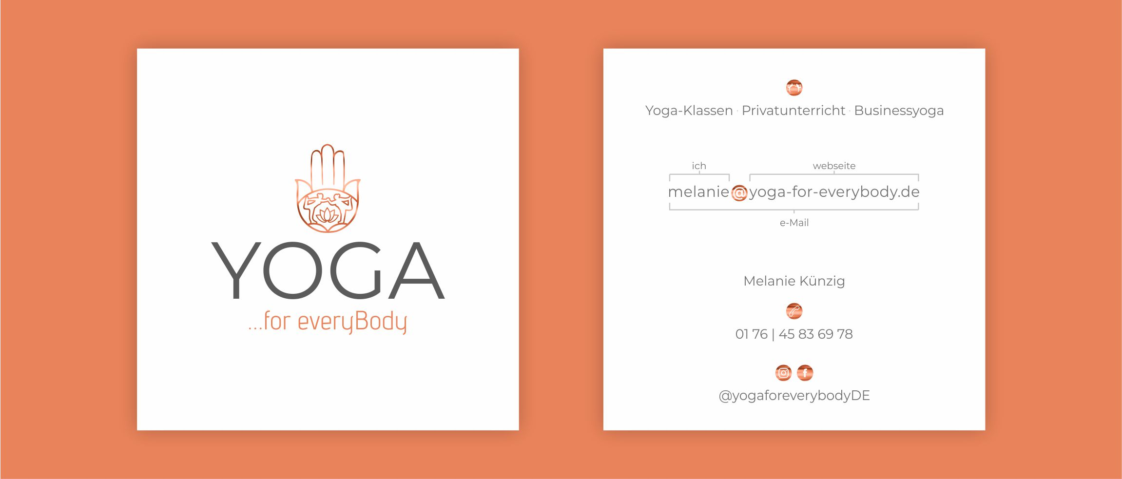 Yogalehrerin Visitenkarte